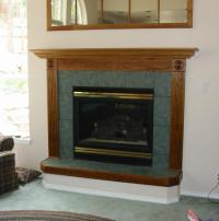 Raised hearth fireplace photos