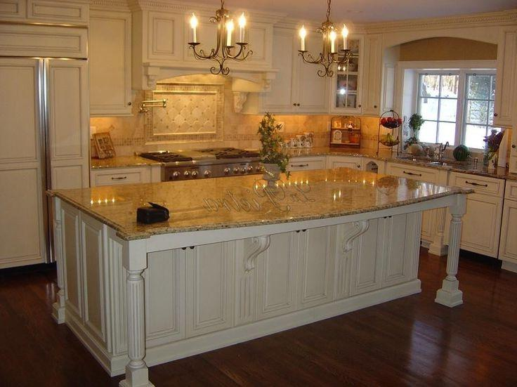 Cream Kitchen Cabinets New Venetian Gold Granite Photos With White Cabinets