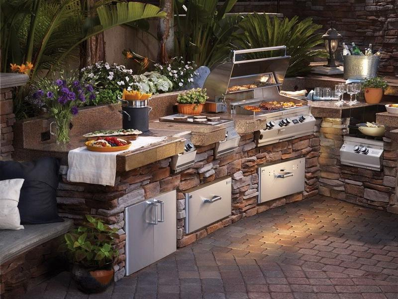 Decoration Barbecue Jardin Luxury Outdoor Kitchens Photo Gallery