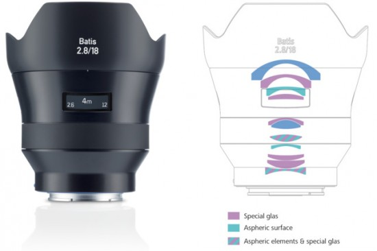 Full Frame Wide Angle E Mount Zeiss Batis 2 8 18 Super Wide Angle Autofocus Lens For