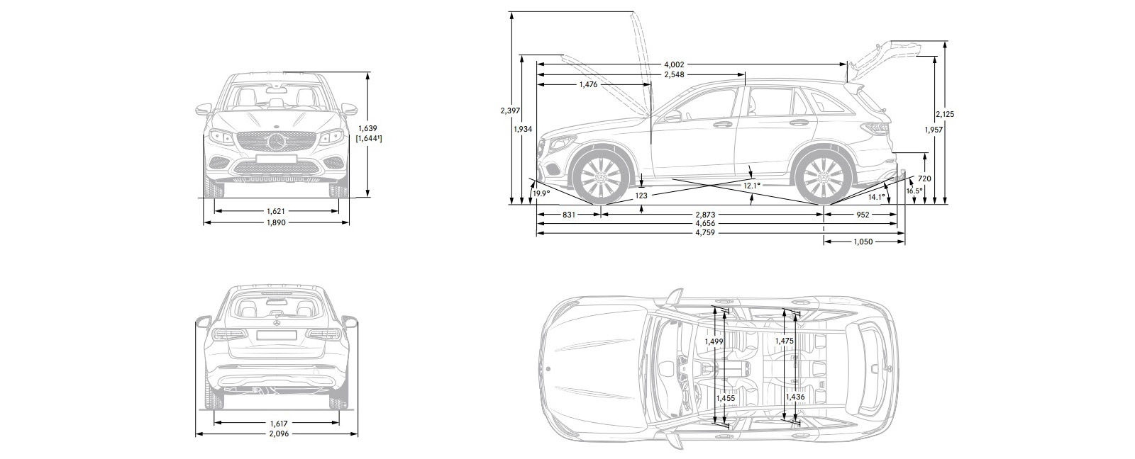 Mercedes Glc Size And Dimensions Guide Carwow