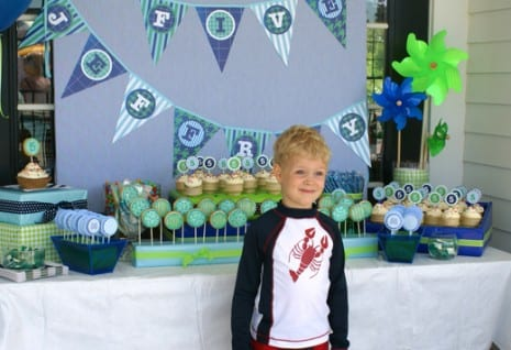 TRENDS Summer Parties on Catch My Party Catch My Party - blue and green birthday party