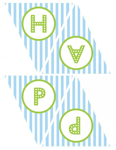 FREE Blue and Green (Boy) Birthday Printables from Green Apple