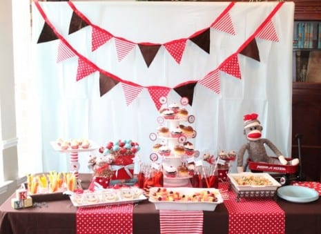 PARTY ON A BUDGET A Sock Monkey Baby Shower for $100 Catch My Party