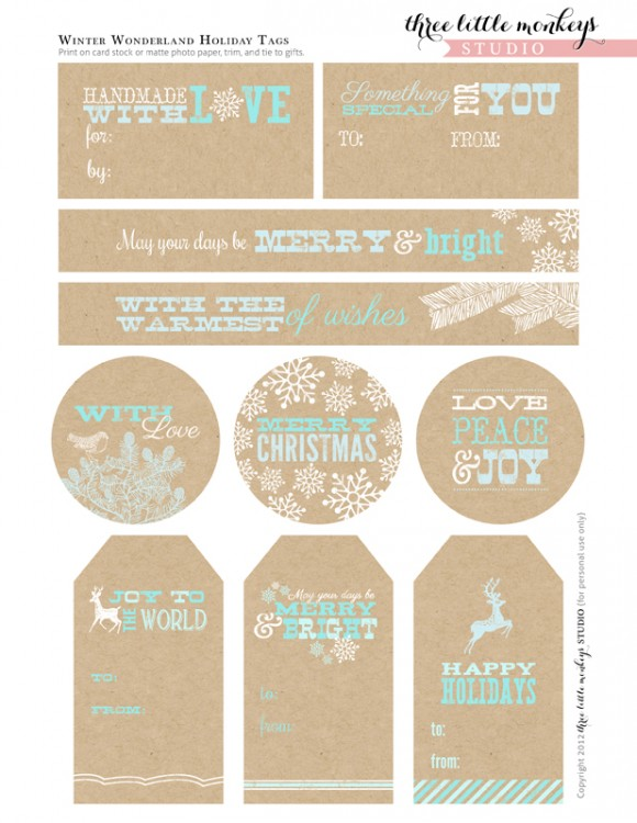 My Favorite Printable Christmas Gift Tags Catch My Party