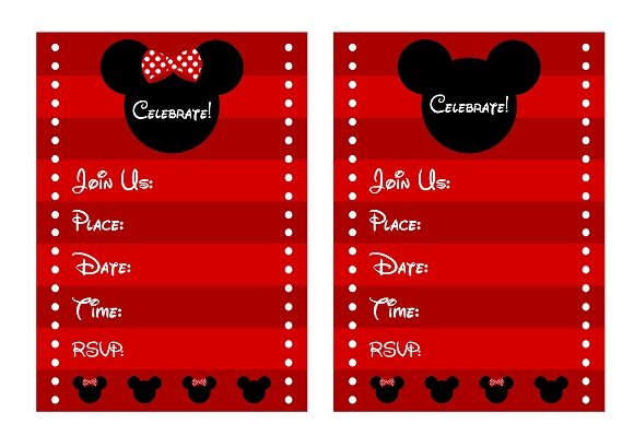 FREE Mickey  Minnie Mouse Birthday Party Printables from