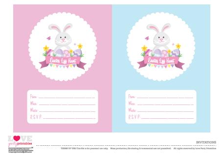 FREE Easter Party Printables from Love Party Printables Catch My Party - easter invitations template