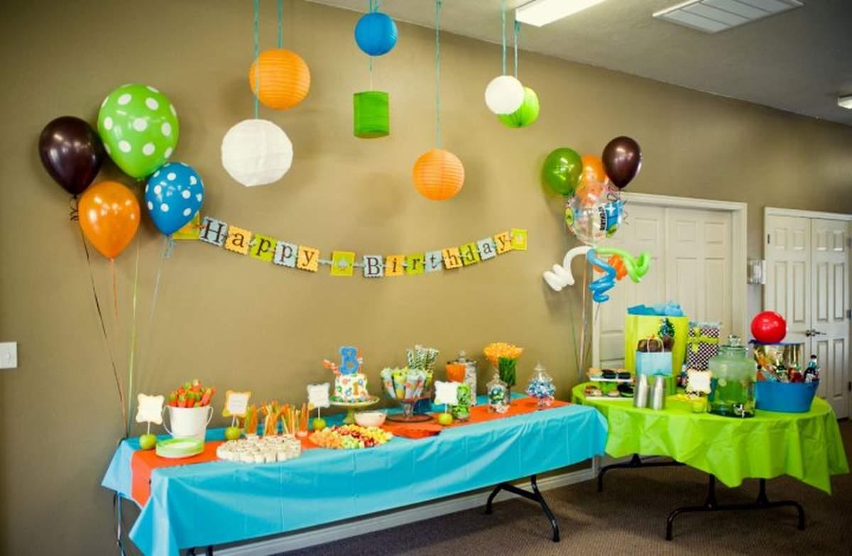 Orange, Blue, Green Birthday Party Ideas Photo 2 of 22 Catch My - blue and green birthday party