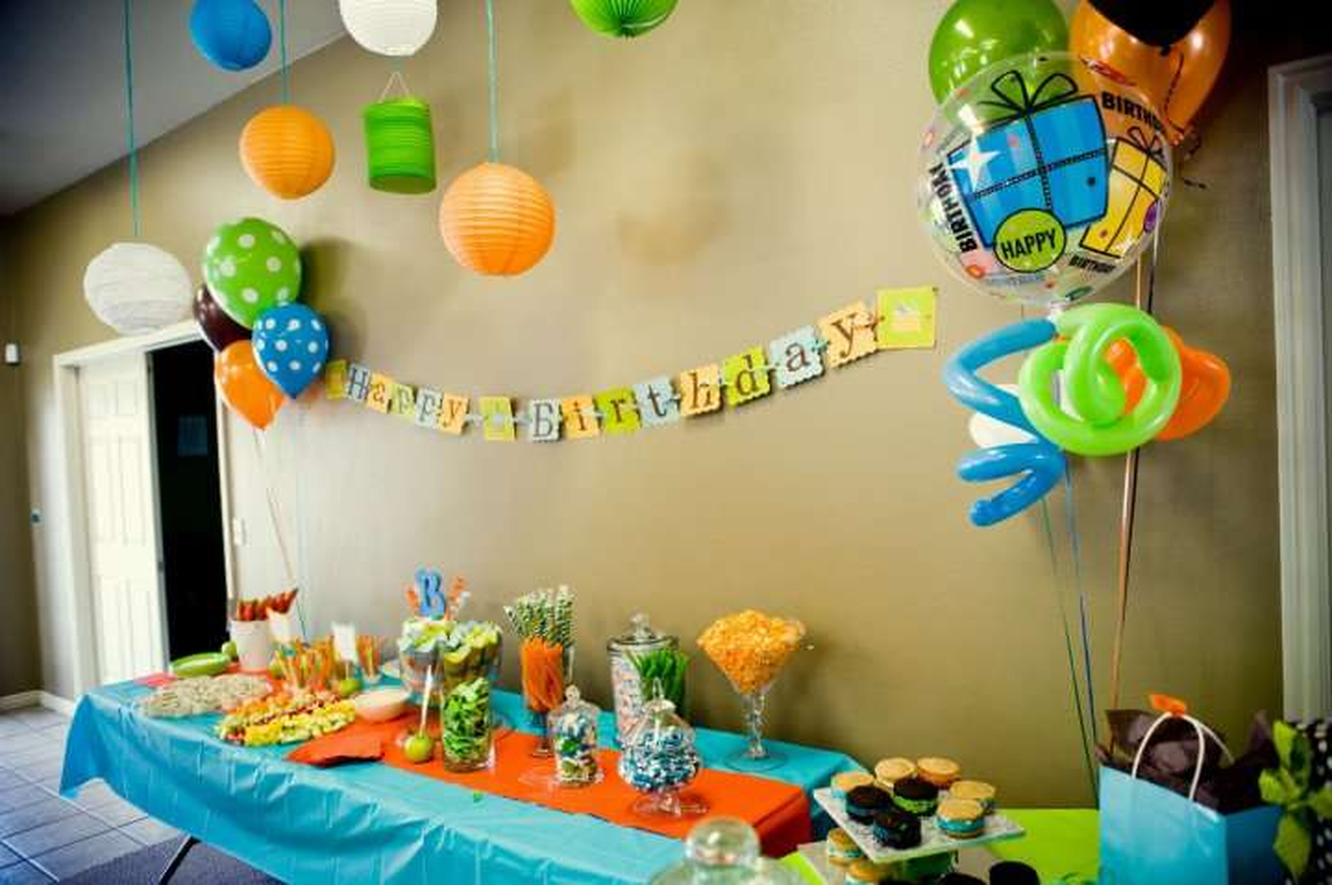 Orange, Blue, Green Birthday Party Ideas Photo 3 of 22 Catch My - blue and green birthday party