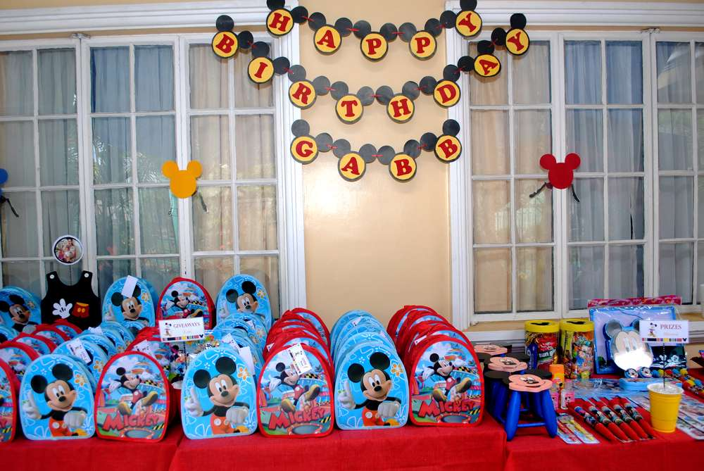 Mickey Mouse Birthday Party Ideas Photo 32 of 38 Catch My Party - mickey mouse boy birthday party ideas
