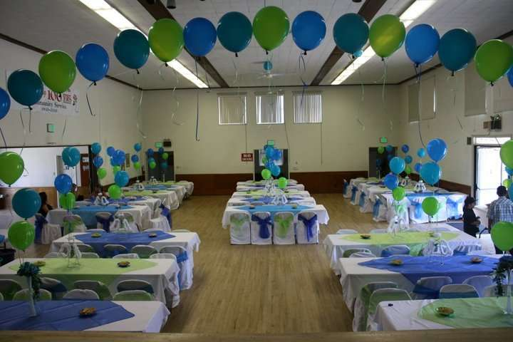 Blue and Green Baptism Party Ideas Photo 4 of 7 Catch My Party - blue and green birthday party