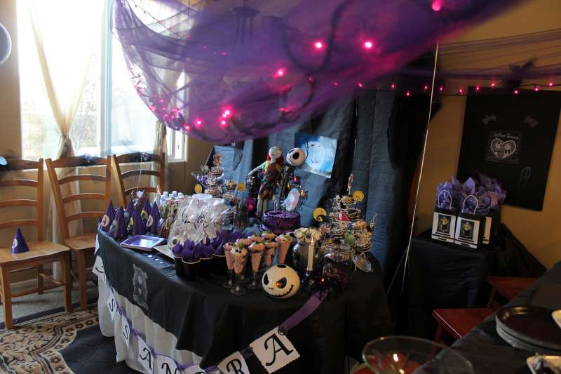 Nightmare Before Christmas Birthday Party Ideas Photo 16 of 19 - nightmare before christmas baby shower decorations