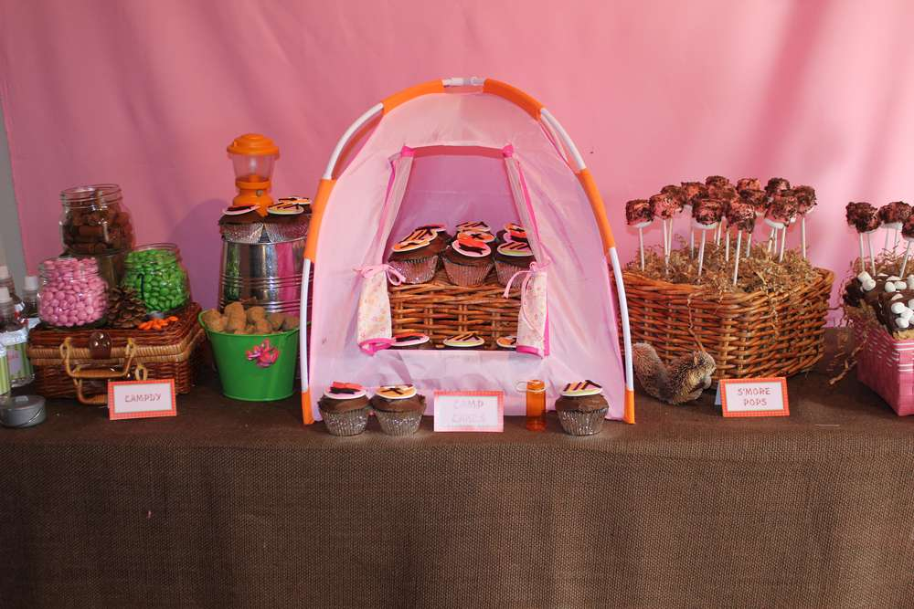 Camping Party For 7 Year Old Girls Birthday Party Ideas
