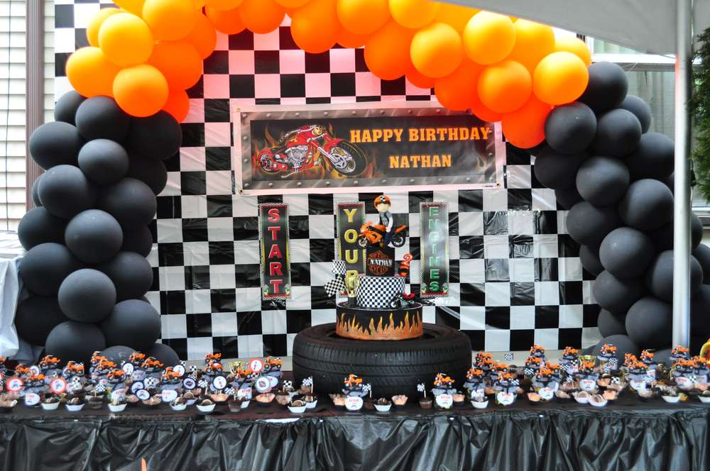 Motorcycle Birthday Party Ideas Photo 1 Of 45 Catch My