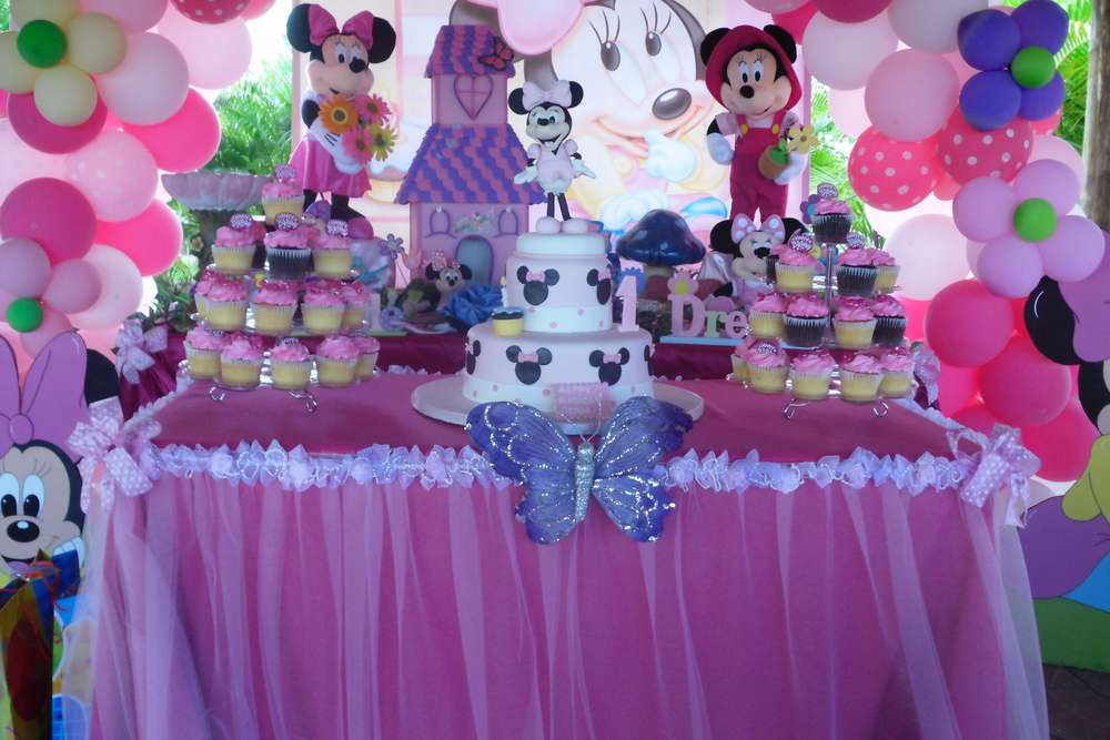 Baby Minnie Mouse 1st Birthday Birthday Party Ideas Photo 4 Of 83 Catch My Party