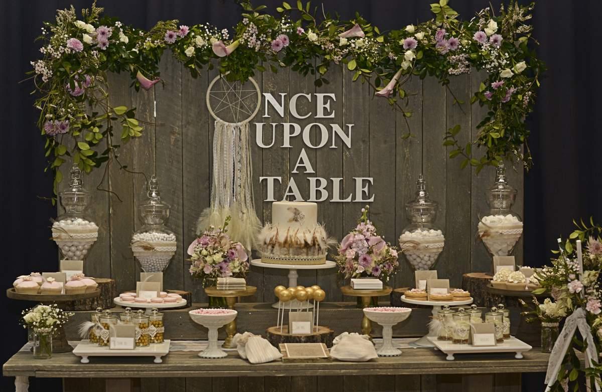 Rustic Bohemian Chic Dessert Table Wedding Party Ideas