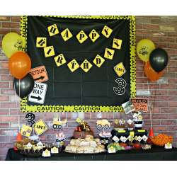 Lovely Construction Site Birthday Party Construction Birthday Party Ideas Photo Catch My Party Construction Birthday Party Free Printables Construction Birthday Party Game Ideas art Construction Birthday Party