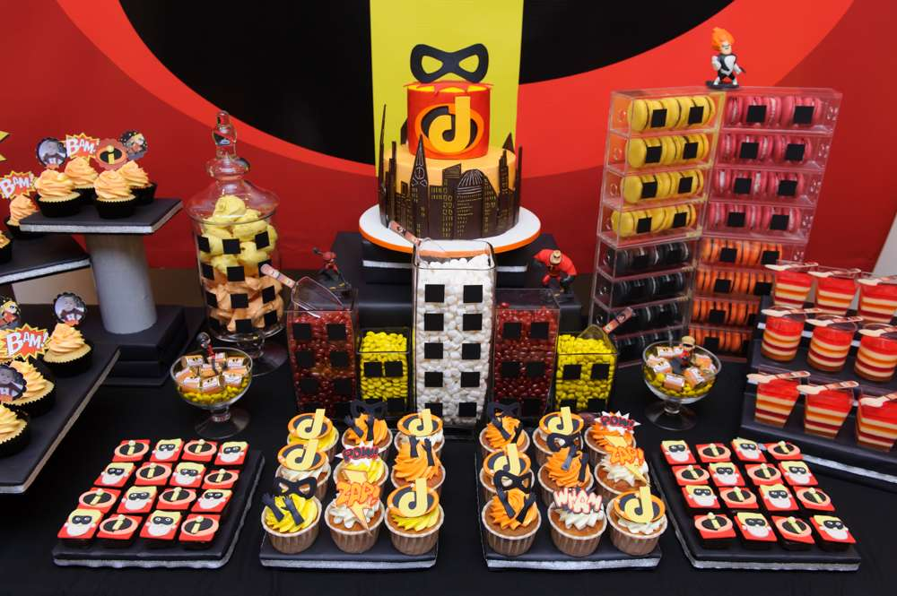 The Incredibles Birthday Party Ideas Photo 3 Of 18