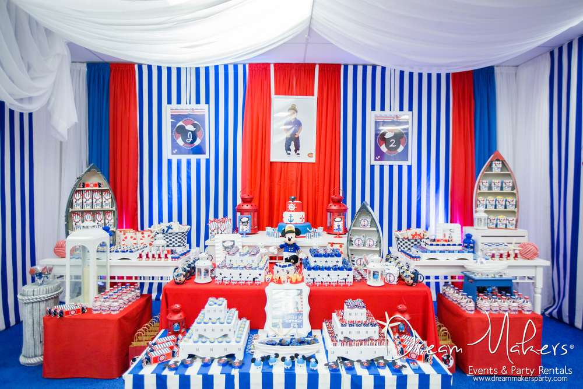 Mickey Mouse Sailor Birthday Party Ideas Photo 46 of 54 Catch My - mickey mouse boy birthday party ideas