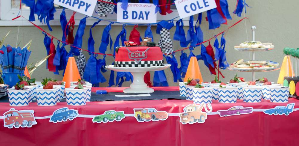Cars, Lightning McQueen Birthday Party Ideas Photo 2 of 31 Catch