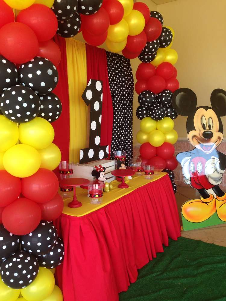 Mickey Mouse Birthday Party Ideas Photo 2 of 11 Catch My Party - mickey mouse boy birthday party ideas