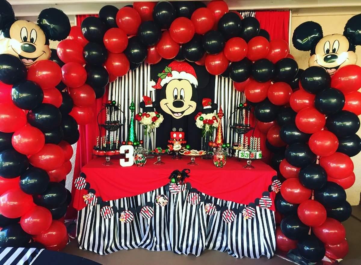 Mickey Mouse, Christmas, Birthday Boy Birthday Party Ideas Photo 2 - mickey mouse boy birthday party ideas
