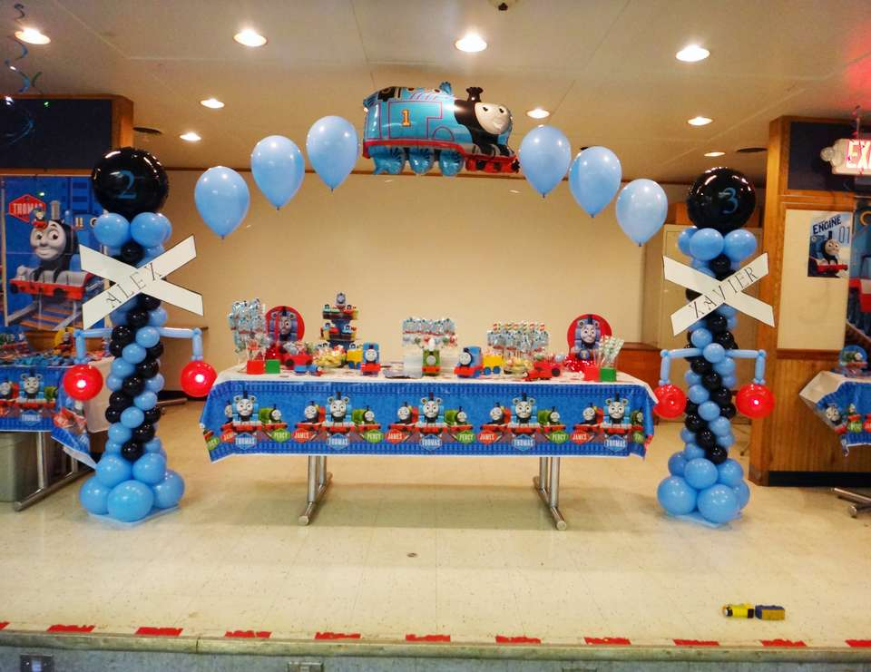 Thomas The Tank Engine Party Birthday Quotalex And Xavier