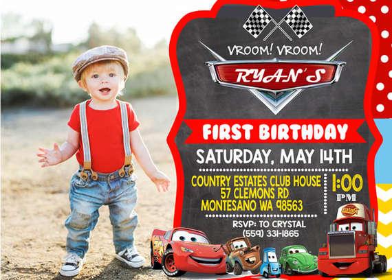 Disney Cars Birthday Party Invitations by Printable Birthday