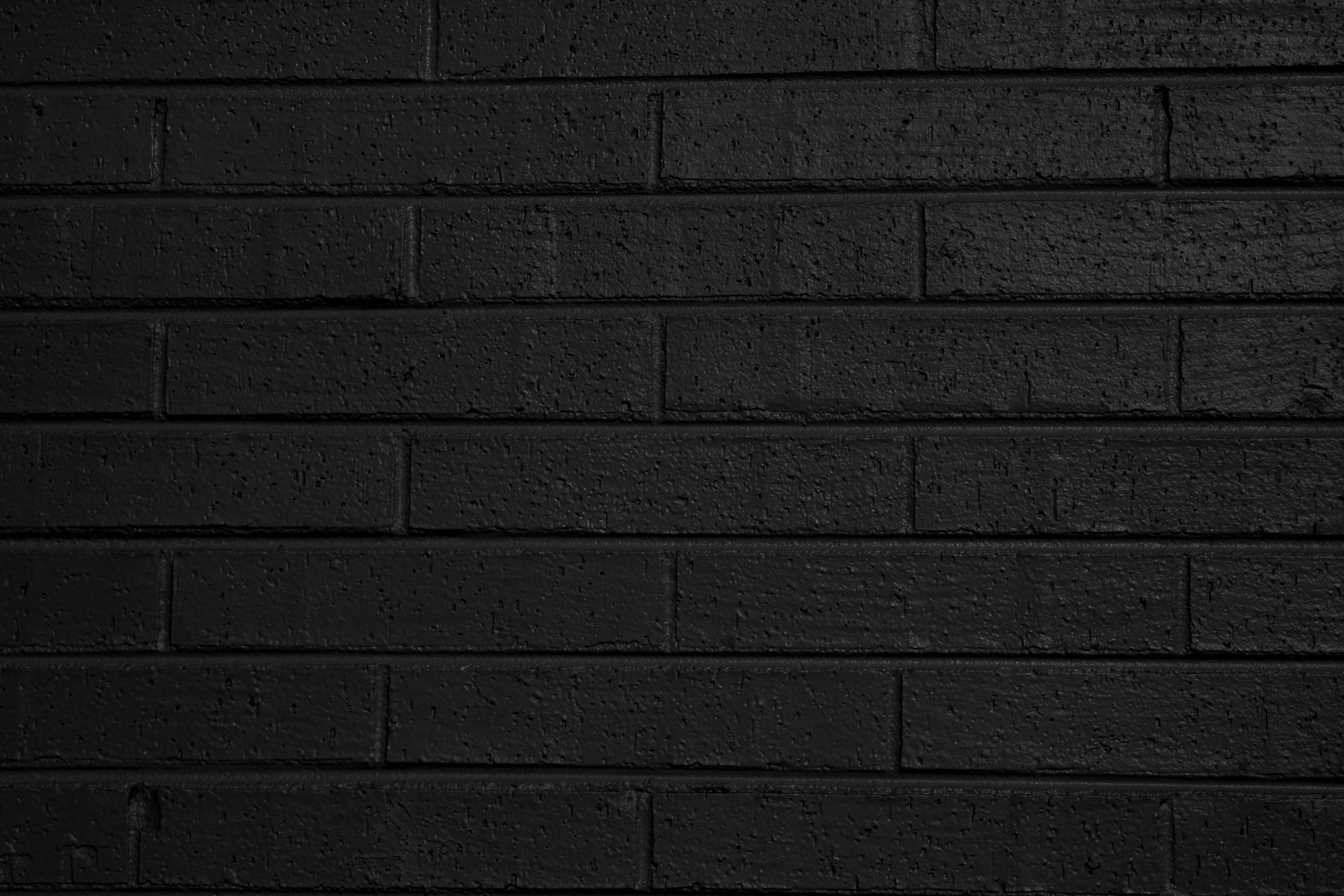 Black Brick Wall Black Painted Brick Wall Texture Picture Free Photograph