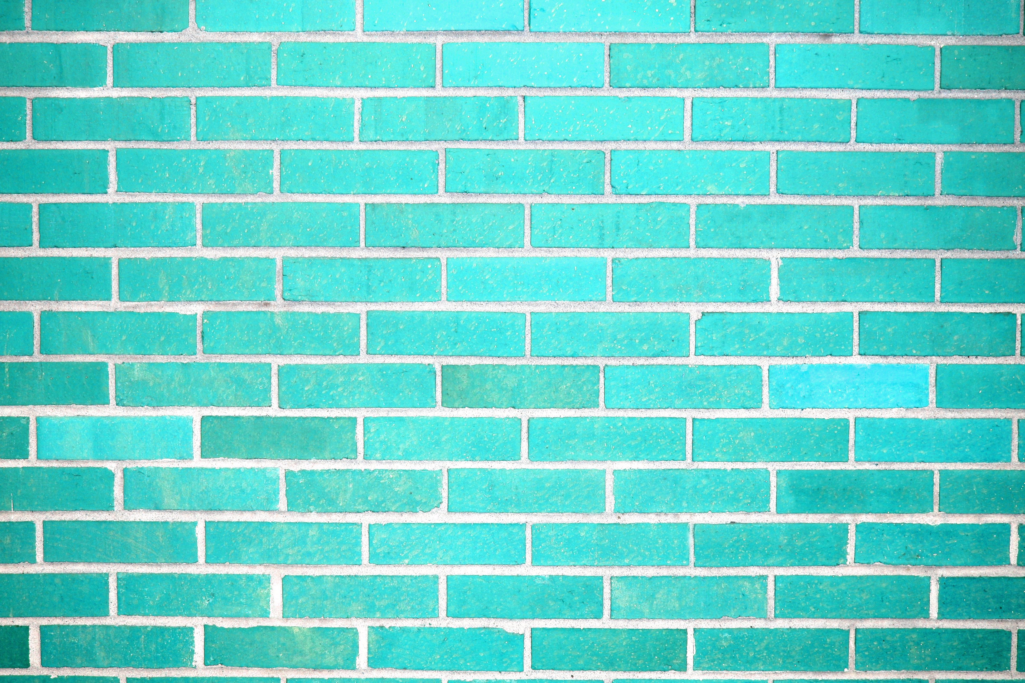 Turquoise Brick Wallpaper Teal Brick Wall Texture Photos Public Domain