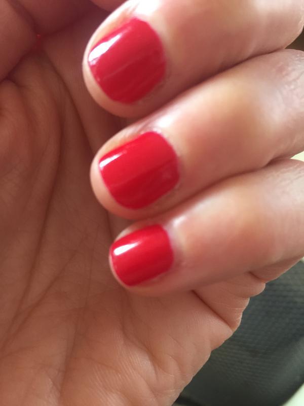 Pinkish Red Nail Polish