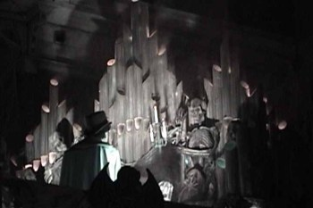 Apparently, the Phantom Organist has played his last note: he is no longer visible in the Halloween Haunts Ghost Town