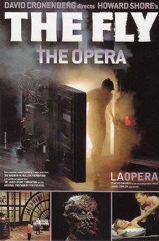 Advertising art for the opera version of THE FLY