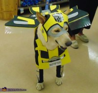 Bumblebee Transformer Dog Costume