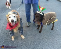 Cowboy and Indian Dogs Costume