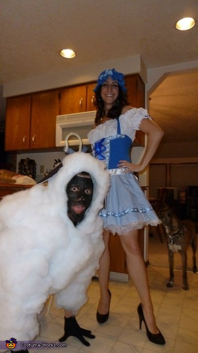 Toddler With Baby Little Bo Peep And Her Sheep Couple Halloween Costume