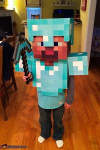 Minecraft Diamond Armor Steve Costume