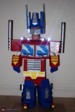 Optimus Prime Costume Homemade