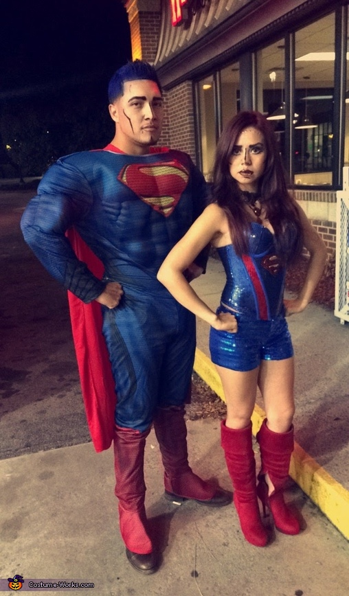 Super Woman Kostüm Supergirl And Superman Couple Costume