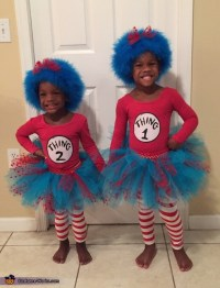Thing 1 and Thing 2 Girls Costume