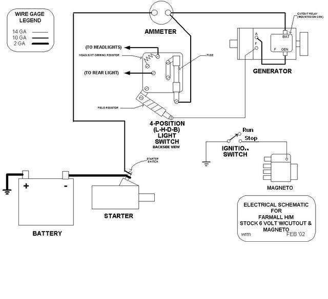 6 Volt Wiring Diagrams Positive Grounds - Carbonvotemuditblog \u2022