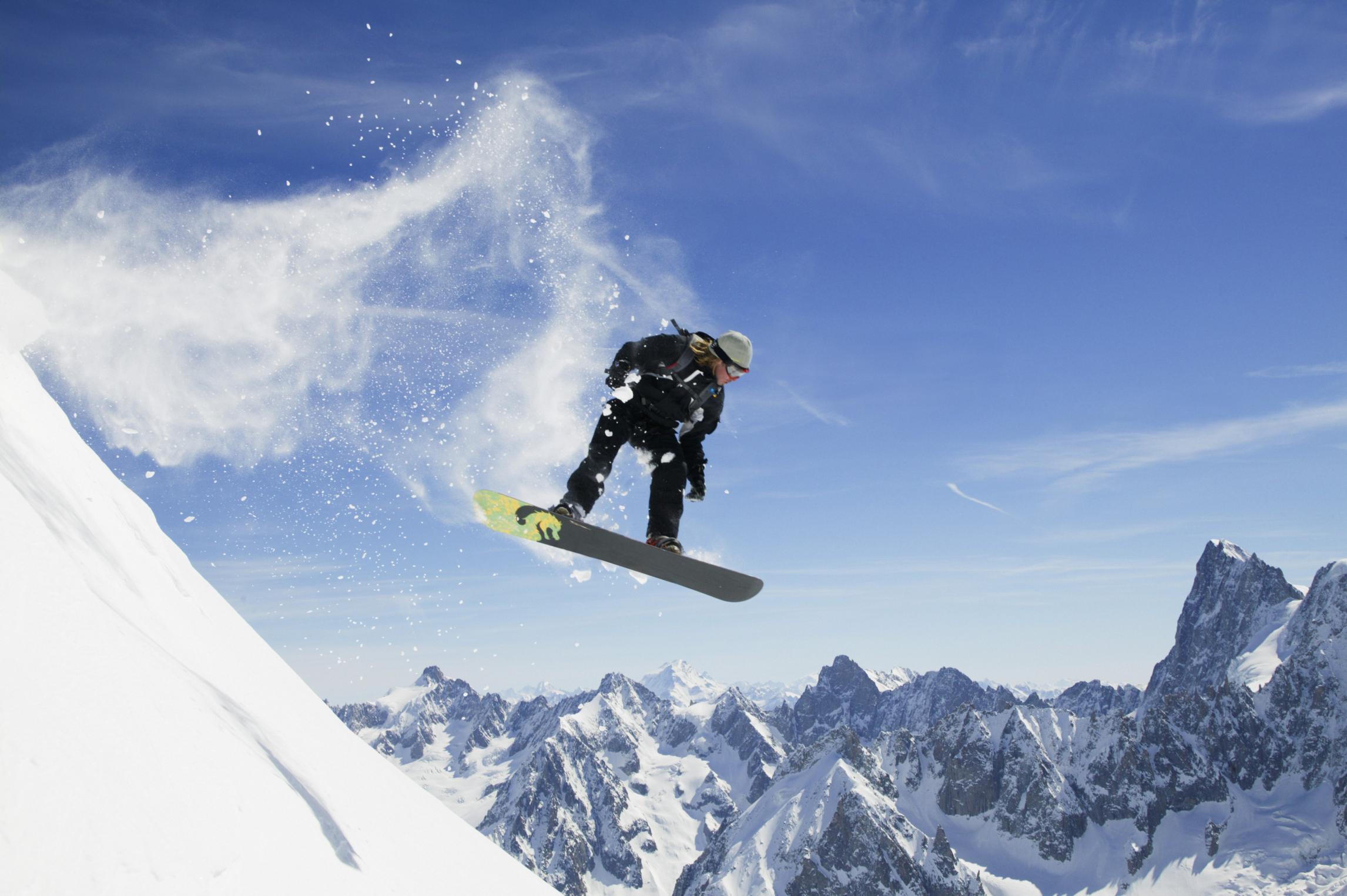 Wallpaper Desktop Girl Falling Calories Burned While Snowboarding Healthfully