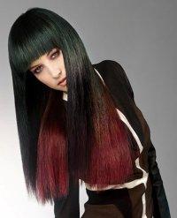 Lange schwarze Haare   desired.de