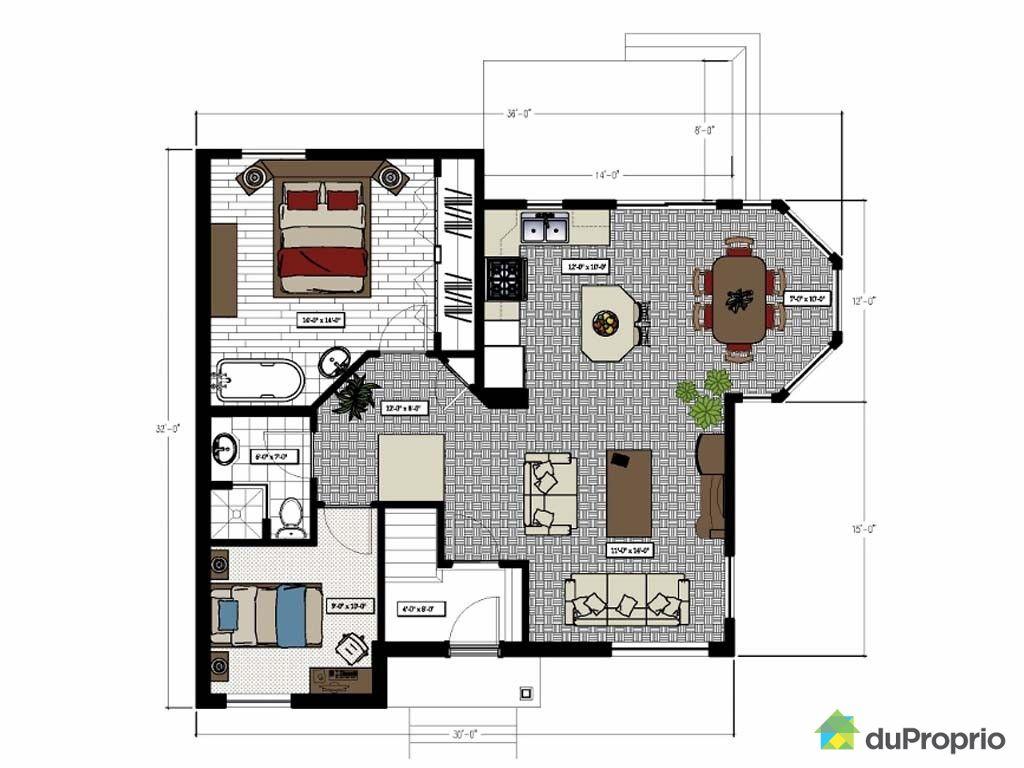 Plan maison jumele gratuit peinture d interieur qui - Site pour plan maison ...