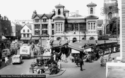 Kingston Upon Thames, The Market Place 1961 - Francis Frith