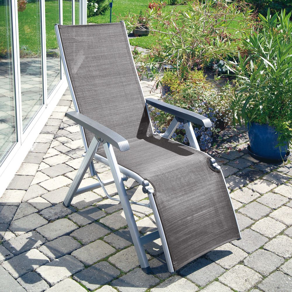 Chaise Relax Exterieur Fauteuil Relax Basic Plus Kettler Argent Anthracite