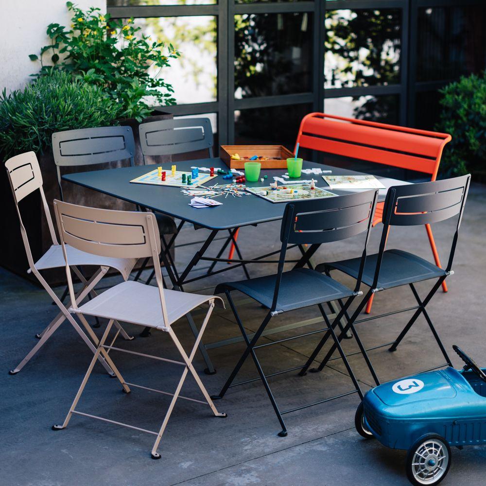 Fermob Cargo | Table Jardin Carrée 8 Personnes Agréable Table De ...