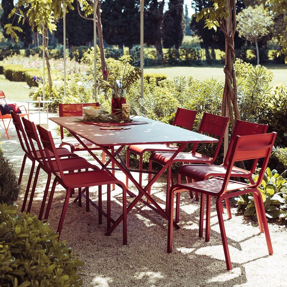 Salon De Jardin Structure Aluminium Salon De Jardin Fermob 8 Pers. : 1 Table Cargo + 8 Chaises
