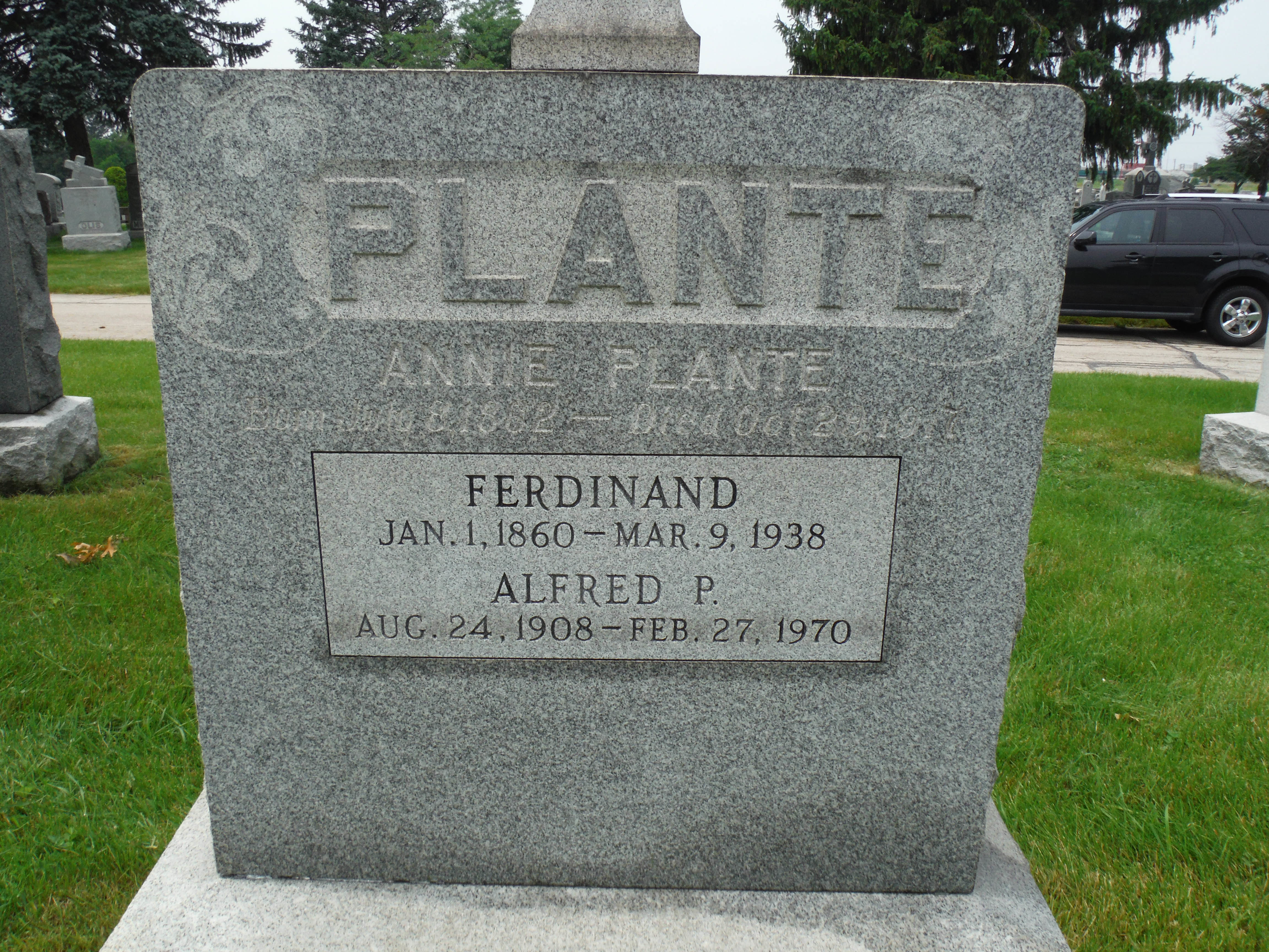 Plante Original Alfred Jr P Plante 1908 1970 Genealogy