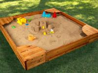 backyard sandbox espresso by kidkraft